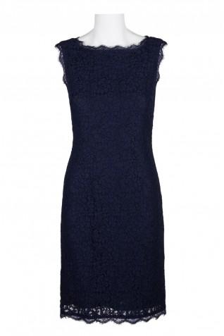885535c4b6fd1 ... Adrianna Papell Scalloped Boat Neck Sleeveless Zipper Back Bodycon Lace  Dress