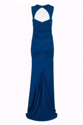 0440a7db76d5d Adrianna Papell Square Neck Sleeveless Ruched Cutout Back Solid ...