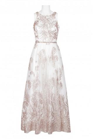 08be47a9032 ... Cachet Halter Neck String Corset Back Glitter Mesh Dress