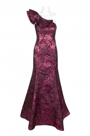 Image result for aubergine jacquard gown