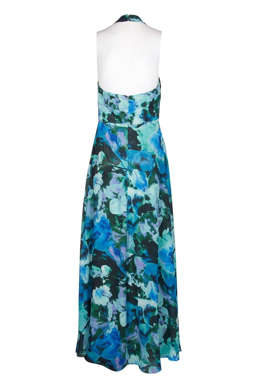 06f9cba84efc Leslie Fay Floral Print Chiffon Maxi Dress