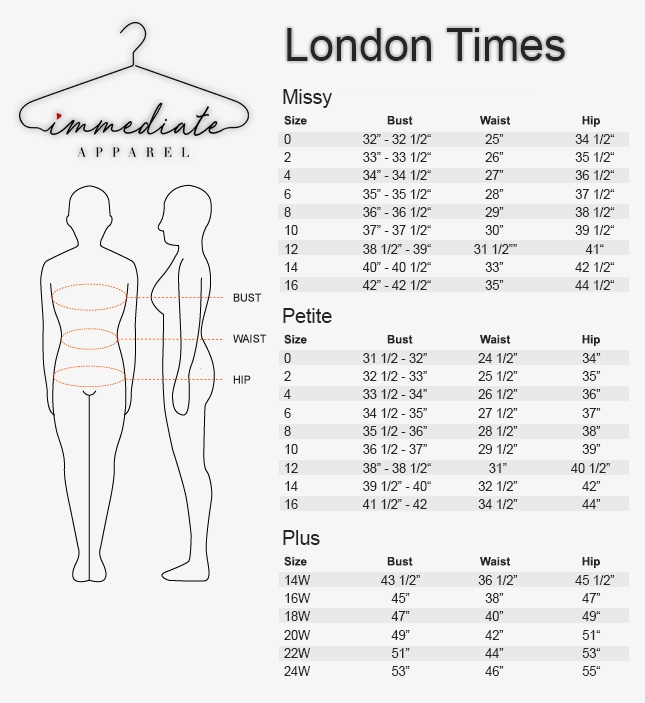 Size Charts - WHOLESALE WOMEN'S APPAREL
